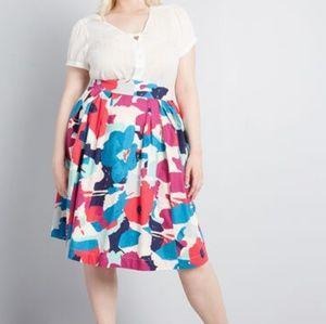 NWT ModCloth Far-Out and Fabulous Midi Skirt 2X